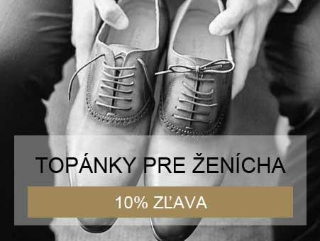 10% zľava na topánky pre ženícha pri kúpe svadobných šiat